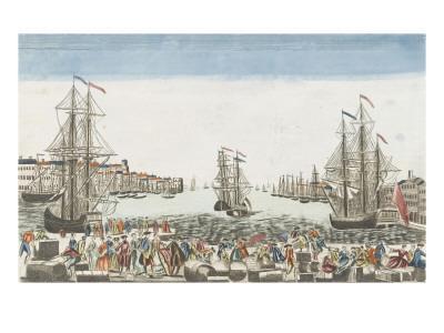 Vue du port de Rochefort--Giclee Print