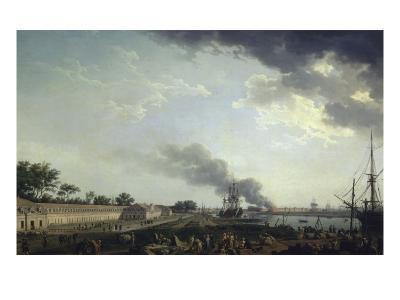 Vue du port de Rochefort-Claude Joseph Vernet-Giclee Print