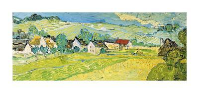 Vue Ensoleille pres d'Auvers-Vincent van Gogh-Giclee Print