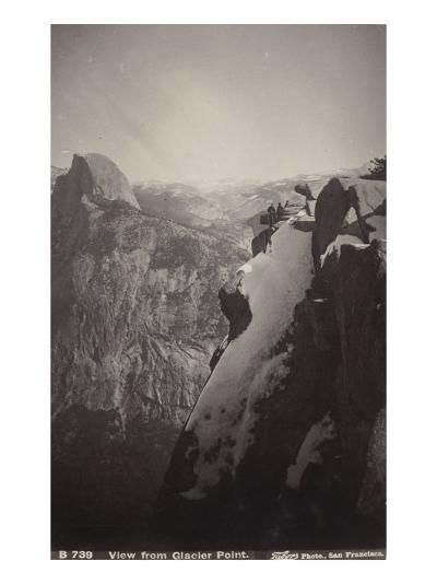 Vue générale de Glacier Point, Yosemite-Carleton Emmons Watkins-Giclee Print