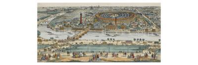 Vue générale de Paris et de l'expostion universelle de 1867, prise des hauteurs du Trocadéro--Giclee Print