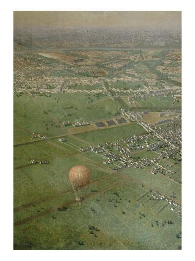 Vue générale de Paris, prise de l'Observatoire, en ballon-Victor Navlet-Giclee Print