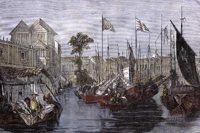 Vue of Canton. 1858--Giclee Print