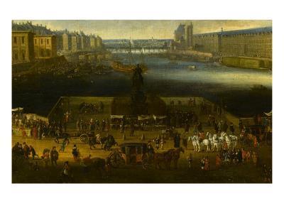 Vue perspective No.2 de la Seine de Paris sur le palais du Louvre, depuis le Pont Neuf vers 1666--Giclee Print