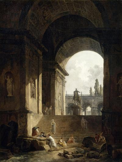 Vue pittoresque du Capitole-Hubert Robert-Giclee Print