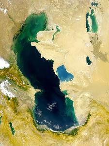 Vue Satellite De La Mer Caspienne 1999 Nasa