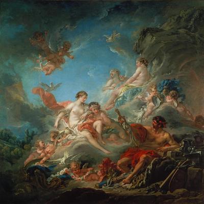 Vulkan Ueberreicht Venus Die Waffen Fuer Aeneas-Francois Boucher-Giclee Print