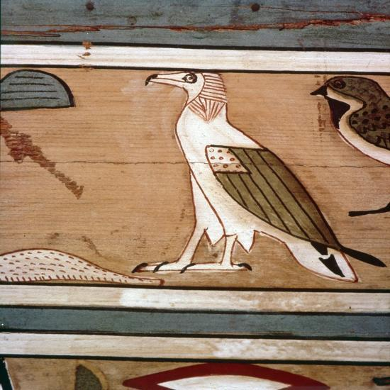 Vulture on the inner wall of coffin of steward, Seni from El Bersha, Egypt, c2000 BC-Unknown-Giclee Print
