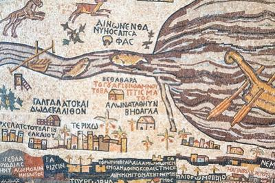 Replica Of Antique Madaba Map Of Holy Land by vvoevale