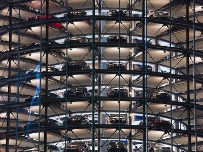 VW Auto Towers, Autostadt, Wolfsburg, Lower Saxony, Germany-Walter Bibikow-Photographic Print