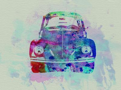 VW Beetle Watercolor 2-NaxArt-Art Print