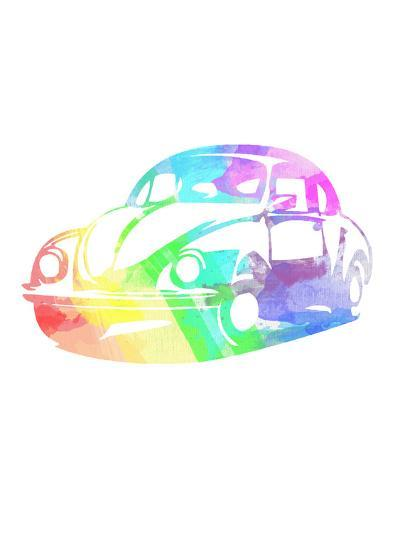 Vw Beetle-Indigo Sage Design-Art Print