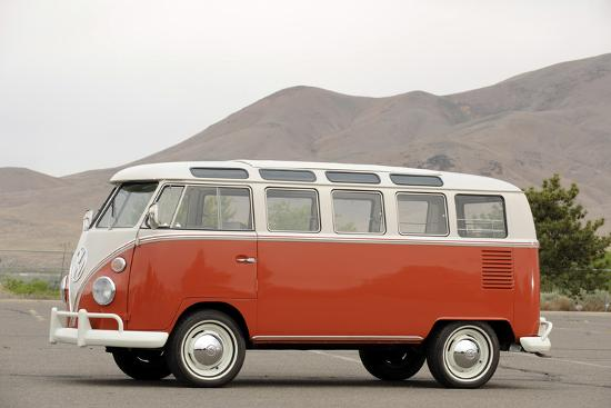 VW micro bus 1964-Simon Clay-Photographic Print