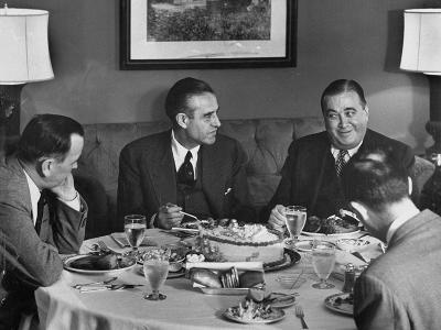 W. Averell Harriman Having Dinner with Others During His Campaign--Photographic Print