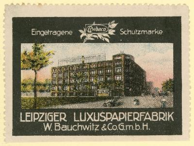 W Bauchwitz and Co Luxury Paper Factory, Leipzig, Germany--Giclee Print