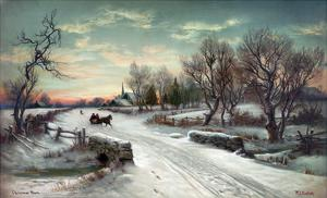 Christmas Morn, C1885 by W^C^ Bauer