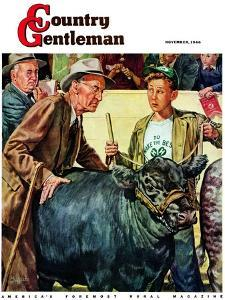 """""""Cattle Judging,"""" Country Gentleman Cover, November 1, 1946 by W.C. Griffith"""