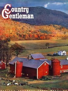 """Red Barns and Silos,"" Country Gentleman Cover, October 1, 1949 by W^C^ Griffith"
