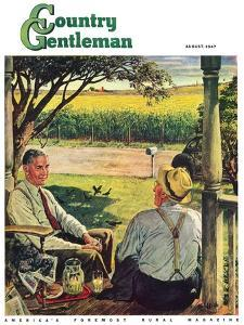 """Summer on the Farmhouse Porch,"" Country Gentleman Cover, August 1, 1947 by W^C^ Griffith"