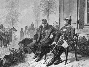 Napoleon III and Bismarck on the Morning after the Battle of Sedan, 1870 by W. Camphausen