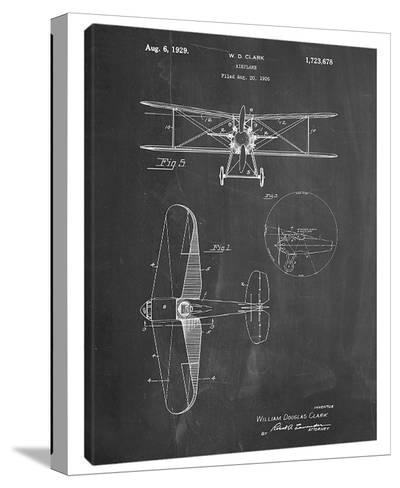 W.D. Clark Plane D-Cole Borders-Stretched Canvas Print