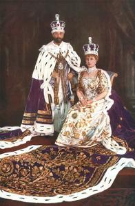 King George V and Queen Mary, 1911 by W&D Downey