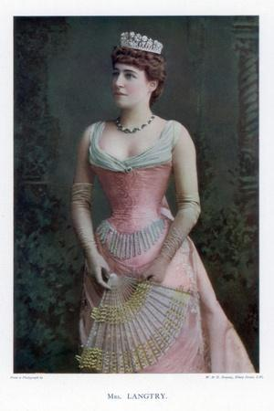 Lillie Langtry, British Actress, 1901