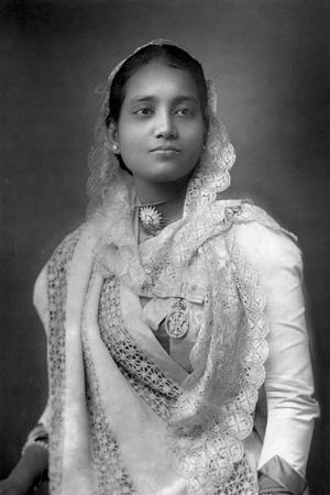 The Maharani of Koch Bihar, West Bengal, India, 1893