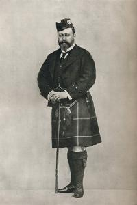 The Prince of Wales in Highland costume, c1886 (1910) by W&D Downey