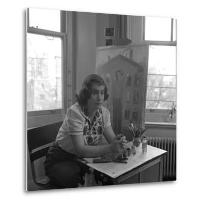 American Artist Honore Desmond Sharrer (1970 - 2009) in Her Studio, February 1950