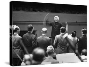 Conductor Arturo Toscanini Conducting Singers from the Metropolitan Opera by W. Eugene Smith