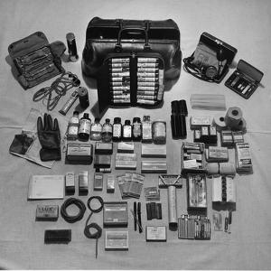 Content's of Country Dr. Ernest Ceriani's Medical Bag by W. Eugene Smith