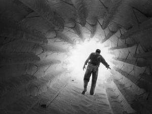 Monsanto Inspector Groping His Way Through Calciner, Type of Furnace by W. Eugene Smith