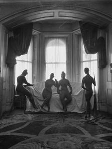 Sculptures by Elie Nadelman Standing Around the Parlor of the Deceased Artist's Home by W. Eugene Smith