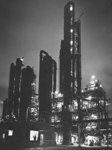 The Rising Towers of Monsanto Chemical Plant Which Makes Styrene Used in Rubber, Paint and Plastic by W. Eugene Smith