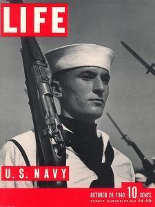 U.S. Sailor Joseph John Timpani, October 28, 1940 by W. Eugene Smith
