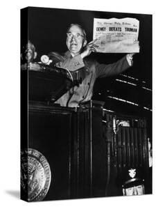 Victorious President Harry Truman Displaying Chicago Daily Tribune Headline, Dewey Defeats Truman by W. Eugene Smith