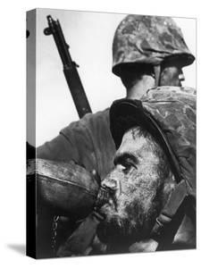 Weary American Marine, Pfc T. E. Underwood, During the Final Days of the Fierce Battle for Saipan by W. Eugene Smith