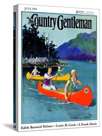 """""""Four-H Camp,"""" Country Gentleman Cover, July 1, 1933"""