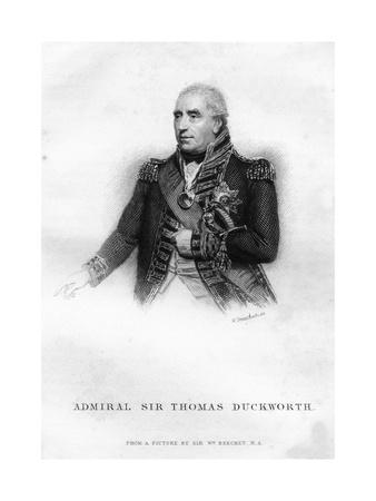 Sir John Thomas Duckworth (1747-181), British Naval Officer, 1837