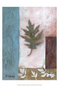 Painterly Leaf Collage I by W^ Green-Aldridge