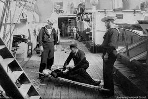 Ambulance Drill on Board the Cruiser HMS Tartar, 1896 by W Gregory