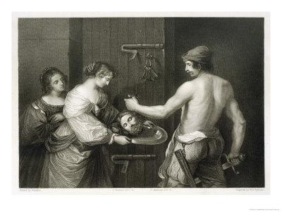 John the Baptist He is Beheaded and Salome Holds out a Dish to Receive His Head