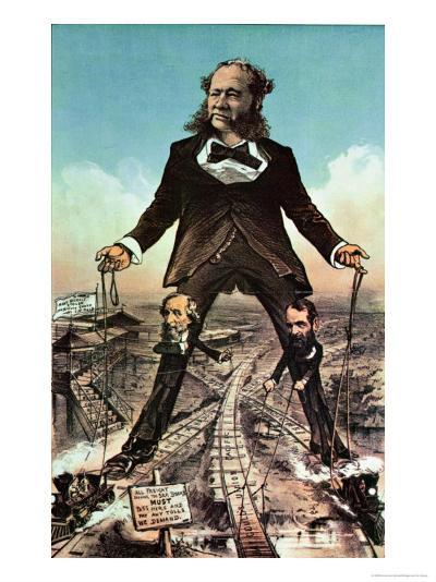 W.H. Vanderbilt as a Colossus of Roads--Giclee Print