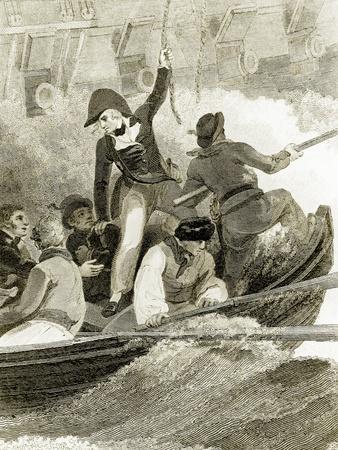 Nelson Boarding the American
