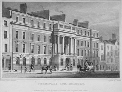 Furnival's Inn, City of London, 1828 by W Henshall