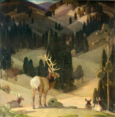 October in the Mountains by W^ Herbert Dunton
