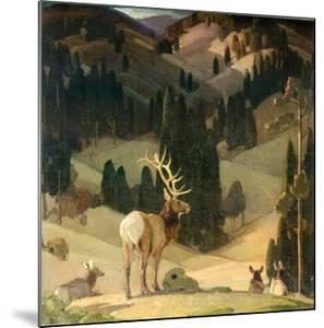 October in the Mountains by W^ Herbert Dunton