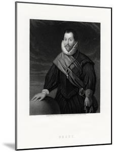 Sir Francis Drake, English Privateer, Navigator, Naval Pioneer, Politician, 19th Century by W Holl
