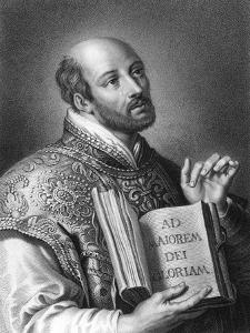 St Ignatius of Loyola, 16th Century Spanish Soldier and Founder of the Jesuits by W Holl
